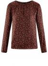 Блузка свободного кроя с вырезом-капелькой oodji #SECTION_NAME# (оранжевый), 21400321-2/33116/5950E