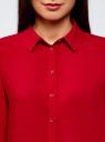 Блузка базовая из вискозы oodji #SECTION_NAME# (красный), 11411136B/26346/4503N - вид 4