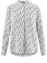Блузка вискозная А-образного силуэта oodji #SECTION_NAME# (белый), 21411113B/42540/1229F