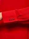 Блузка свободного силуэта с вырезом-капелькой на спине oodji #SECTION_NAME# (красный), 11411129/45192/4500N - вид 5