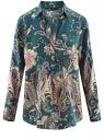 Блузка из вискозы с принтом oodji #SECTION_NAME# (зеленый), 21411144-4/26346/6C68E