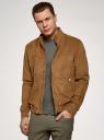 Куртка-бомбер из искусственной замши oodji для мужчины (коричневый), 1L511084M/50502N/4B00N