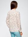 Блузка из принтованной вискозы oodji #SECTION_NAME# (слоновая кость), 11411096-1M/24681/1241F - вид 3