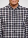 Рубашка прямого силуэта из хлопка oodji #SECTION_NAME# (разноцветный), 3L310188M/49363N/1279C - вид 4