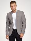 Пиджак однобортный на пуговицах oodji #SECTION_NAME# (серый), 2L420281M/49802N/2512C - вид 2