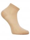 Комплект из трех пар хлопковых носков oodji для женщины (разноцветный), 57102418-5T3/48418/1 - вид 4