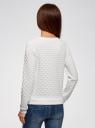Свитшот прямого силуэта из фактурной ткани oodji для женщины (белый), 24801010-14/47198/1200N