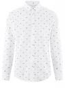 Рубашка хлопковая с нагрудным карманом oodji #SECTION_NAME# (белый), 3L310178M/48974N/1079G