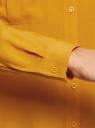 Блузка базовая из вискозы с нагрудными карманами oodji #SECTION_NAME# (желтый), 11411127B/26346/5200N - вид 5