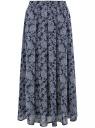 Юбка в складку из струящейся ткани oodji для женщины (синий), 23G00009-2B/45193/7912E
