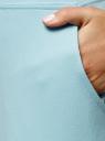 Брюки трикотажные спортивные oodji для женщины (синий), 16700030-5B/46173/7000N