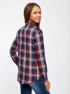 Рубашка хлопковая с нагрудными карманами oodji #SECTION_NAME# (синий), 11411052-1B/42850/7945C - вид 3