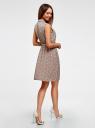 Платье из струящейся ткани с жабо oodji #SECTION_NAME# (розовый), 21913018/36215/5412E - вид 3