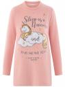 Платье флисовое с аппликацией oodji #SECTION_NAME# (розовый), 59801019/24018/4012P