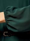 Платье из шифона с ремнем oodji для женщины (зеленый), 11900150-5B/32823/6900N - вид 5