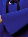 Блузка с бантом и рукавом-колоколом oodji #SECTION_NAME# (синий), 11401256/45994/7500N - вид 5