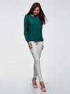 Блузка вискозная базовая oodji #SECTION_NAME# (зеленый), 11411135-3B/26346/6E00N - вид 6