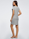 Платье хлопковое с принтом oodji для женщины (серый), 59801006-19/46154/2040Z