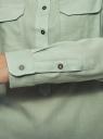Рубашка хлопковая с нагрудными карманами oodji для женщины (зеленый), 13L11009/45608/7000N