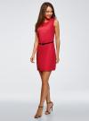 Платье льняное без рукавов oodji #SECTION_NAME# (розовый), 12C00002-1B/16009/4D00N - вид 6