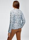 Куртка стеганая с круглым вырезом oodji для женщины (синий), 10204040-1B/42257/7019A - вид 3