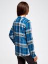 Блузка принтованная из вискозы oodji #SECTION_NAME# (синий), 11411098-4/45208/7410C - вид 3