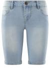 Шорты джинсовые удлиненные oodji #SECTION_NAME# (синий), 12807054B/45877/7000W