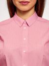 Рубашка хлопковая с коротким рукавом oodji #SECTION_NAME# (розовый), 13K01004B/33081/4110S - вид 4