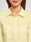 Рубашка базовая с нагрудными карманами oodji #SECTION_NAME# (желтый), 11403222B/42468/5000N - вид 4