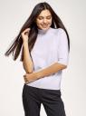 Свитер базовый с рукавом 3/4 oodji для женщины (фиолетовый), 64412202/45647/8000M