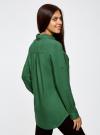 Блузка базовая из вискозы с карманами oodji #SECTION_NAME# (зеленый), 11400355-4/26346/6E00N - вид 3