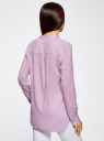 Блузка базовая из вискозы oodji #SECTION_NAME# (фиолетовый), 21412129-1/24681/8000N - вид 3
