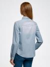Рубашка джинсовая на кнопках oodji #SECTION_NAME# (синий), 16A09003-1/46360/7012F - вид 3