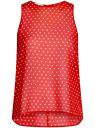 Блузка шифоновая без рукавов oodji #SECTION_NAME# (красный), 11411160/38375/4510D