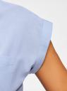 Рубашка хлопковая с нагрудными карманами oodji #SECTION_NAME# (синий), 13L11008/47730/7000N - вид 5