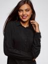 Блузка с нагрудными карманами и регулировкой длины рукава oodji #SECTION_NAME# (черный), 11400355-8B/48458/2900N - вид 4