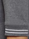 Платье трикотажное с воротником-стойкой oodji #SECTION_NAME# (серый), 14001229-1/47420/2541Z - вид 5