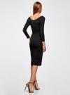 Платье с вырезом-лодочкой (комплект из 2 штук) oodji #SECTION_NAME# (черный), 14017001T2/47420/2900N - вид 3
