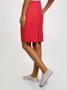 Юбка прямого силуэта базовая oodji для женщины (розовый), 21608006-4B/42307/4D00N