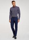 Рубашка принтованная приталенного силуэта oodji #SECTION_NAME# (синий), 3L110210M/19370N/7949G - вид 6