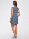Платье из ткани пике oodji #SECTION_NAME# (синий), 14005074-1B/46149/7079S - вид 3