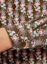 Блузка базовая из вискозы oodji #SECTION_NAME# (зеленый), 11411136B/26346/6645O - вид 5