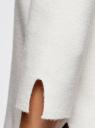 Свитер с воротником-стойкой и рукавом 3/4 oodji #SECTION_NAME# (белый), 64412189/46096/1200N - вид 5