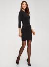 Платье базовое с рукавом 3/4 oodji для женщины (черный), 63912222-1B/46244/2900N - вид 6