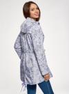 Куртка удлиненная на кулиске oodji для женщины (синий), 11D03006/24058/7012F - вид 3