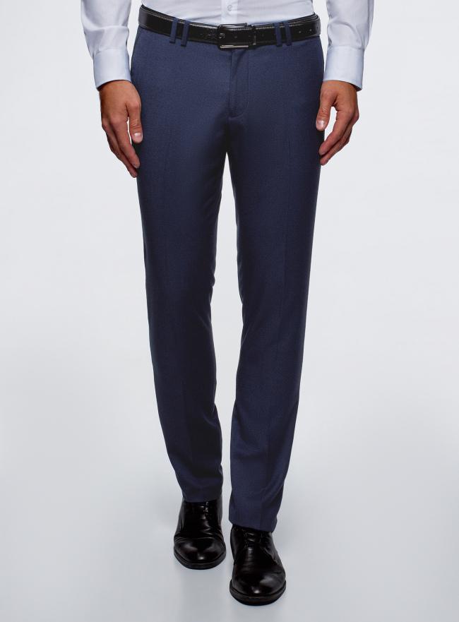 Брюки классические slim fit oodji для мужчины (синий), 2L210237M/48581N/7900O