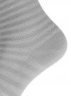 Комплект хлопковых носков в полоску (3 пары) oodji #SECTION_NAME# (серый), 57102813T3/48022/2 - вид 4