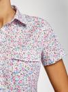 Рубашка хлопковая с нагрудными карманами oodji #SECTION_NAME# (слоновая кость), 11402084-3B/12836/1241F - вид 5