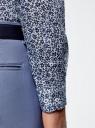 Рубашка льняная принтованная oodji #SECTION_NAME# (синий), 3L110323M/48268N/1079F - вид 5