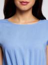 Платье вискозное без рукавов oodji #SECTION_NAME# (синий), 11910073B/26346/7501N - вид 4